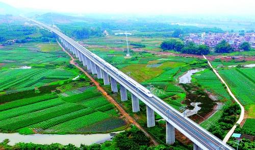 高铁桥梁简笔画