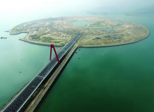 福建漳州双鱼岛大桥建成通车