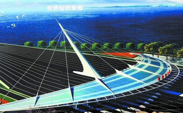 图④:港珠澳大桥总平面图