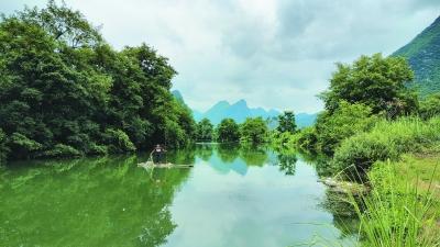 小小竹排水中游.图片