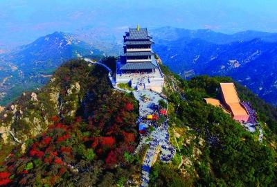 10月6日,游客在山东省临沂市沂蒙山银座天蒙旅游区游览(无人机