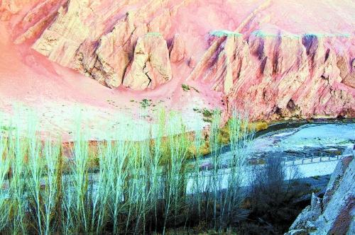 烧烤新疆特色手绘壁画