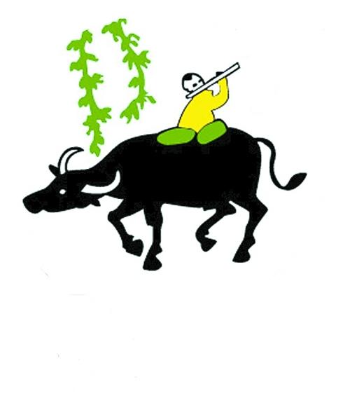 牧童骑黄牛简笔画