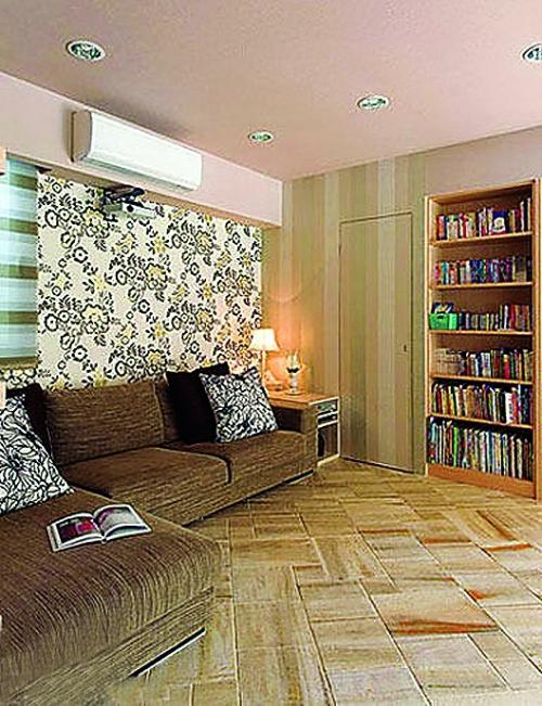 壁纸装修;   阳台地砖效果图11:客厅唯美; 木纹地板砖装修效果图赏析