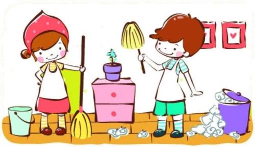 幼儿家务劳动简笔画